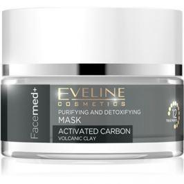 Eveline Cosmetics FaceMed+ tisztító és detoxikáló maszk aktív szénnel  50 ml