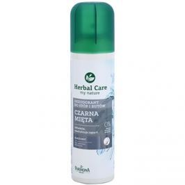 Farmona Herbal Care Black Mint spray dezodor a lábra és a cipőbe  150 ml