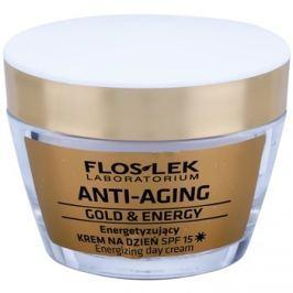 FlosLek Laboratorium Anti-Aging Gold & Energy energizáló nappali krém SPF15  50 ml