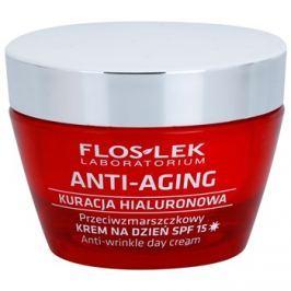 FlosLek Laboratorium Anti-Aging Hyaluronic Therapy nappali hidratáló krém a bőröregedés ellen SPF15  50 ml