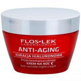 FlosLek Laboratorium Anti-Aging Hyaluronic Therapy éjszakai hidratáló krém ránctalanító hatással  50 ml