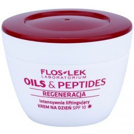 FlosLek Laboratorium Oils & Peptides Regeneration 60+ intenzív lifting krém SPF 10  50 ml
