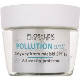 FlosLek Laboratorium Pollution Anti aktív nappali krém SPF 15  50 ml