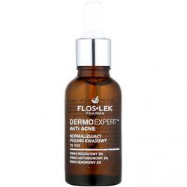 FlosLek Pharma DermoExpert Acid Peel normalizáló éjszakai ápolás a bőrhibákra  30 ml