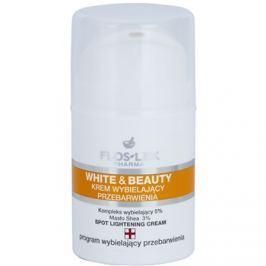 FlosLek Pharma White & Beauty fehérítő krém a helyi ápolásért  50 ml