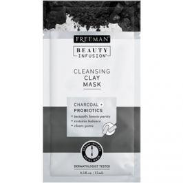 Freeman Beauty Infusion Charcoal + Probiotics tisztító agyagos arcmaszk  15 ml