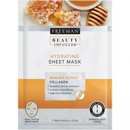 Freeman Beauty Infusion Manuka Honey + Collagen hidratáló szövetmaszk minden bőrtípusra  25 ml