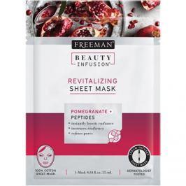 Freeman Beauty Infusion Pomegranate + Peptides revitalizáló szövetmaszk minden bőrtípusra  25 ml