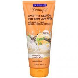 Freeman Feeling Beautiful arcmaszk agyagból parabénmentes Sweet Tea & Lemon  175 ml
