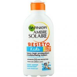 Garnier Ambre Solaire Resisto Kids napvédő tej gyermekeknek SPF50+  200 ml