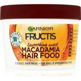 Garnier Fructis Macadamia Hair Food kisimító maszk a rakoncátlan hajra  390 ml