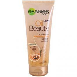 Garnier Oil Beauty tápláló olajos testpeeling száraz bőrre  200 ml