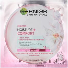 Garnier Skin Naturals Moisture+Comfort szuper hidratáló és nyugtató szövet arcmaszk száraz és érzékeny bőrre  32 g