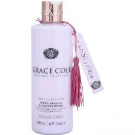 Grace Cole Boutique Warm Vanilla & Sandalwood hidratáló testápoló tej  500 ml