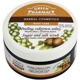 Green Pharmacy Body Care Shea Butter & Green Coffee cukor és só peeling  300 ml