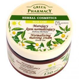 Green Pharmacy Face Care Green Tea mattító krém kombinált és zsíros bőrre  150 ml