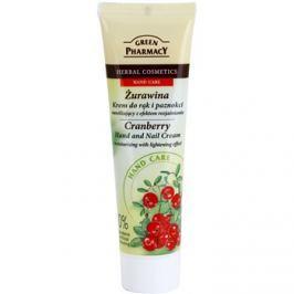 Green Pharmacy Hand Care Cranberry hidratáló krém kézre és körmökre bőrvilágosító hatással  100 ml