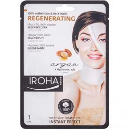 Iroha Regenerating Argan pamut maszk arcra és nyakra argánolajjal és hialuron savval