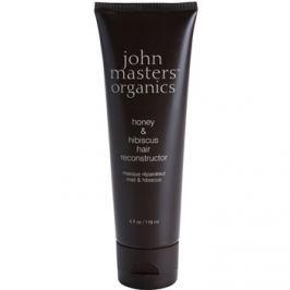 John Masters Organics Honey & Hibiscus megújító maszk a haj megerősítésére  118 ml
