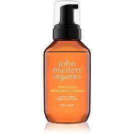 John Masters Organics Lime & Spruce habszappan kézre és testre  473 ml