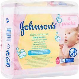 Johnson's Baby Diapering extra finom nedves törlőkendő tisztításra gyermekeknek  224 db