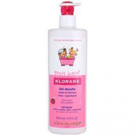 Klorane Petit Junior tusfürdő gél testre és hajra málna illatú  500 ml