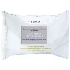 Korres Face Milk Proteins tisztító és sminklemosó törlőkendők  25 db