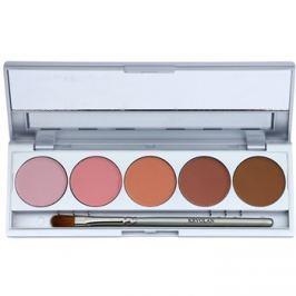 Kryolan Basic Eyes 5 színt tartalmazó szemhéjfesték paletta  tükörrel és aplikátorral árnyalat Florence Matt 7,5 g