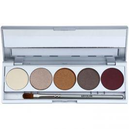 Kryolan Basic Eyes 5 színt tartalmazó szemhéjfesték paletta  tükörrel és aplikátorral árnyalat Casablanca Matt/Iridescent 7,5 g