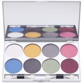 Kryolan Basic Eyes paletta szemhéjpúder 8 szín tükörrel és aplikátorral árnyalat Iridescent 24 g