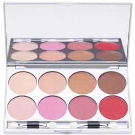 Kryolan Basic Eyes paletta szemhéjpúder 8 szín tükörrel és aplikátorral árnyalat Posh 24 g