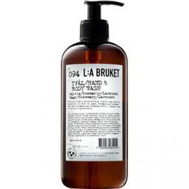 L:A Bruket Body folyékony szappan salviával, rozmaringgal és levendulával a kezekre és a testre  450 ml