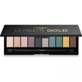 L'Oréal Paris Color Riche La Palette Gold szemhéjfesték paletták tükörrel és aplikátorral  7 g