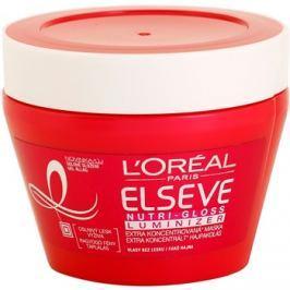 L'Oréal Paris Elseve Nutri-Gloss Luminizer tápláló hajmaszk a magas fényért  300 ml