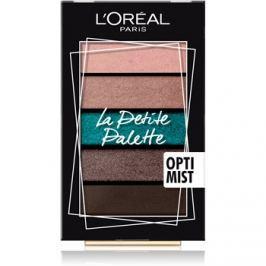 L'Oréal Paris Le Petite Palette szemhéjfesték paletták árnyalat Optimist 5 x 0,8 g