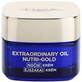 L'Oréal Paris Nutri-Gold bőrvilágosító éjszakai krém intenzív maszkkal Essential Oils + Royal Jelly - Light Texture, Silky Soft) 50 ml