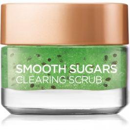 L'Oréal Paris Smooth Sugars Scrub tisztító peeling a fekete pontok ellen  50 ml