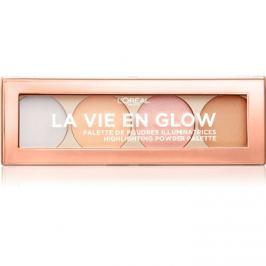 L'Oréal Paris Wake Up & Glow La Vie En Glow élénkítő paletta árnyalat 02 Cool Glow 5 g