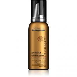 L'Oréal Professionnel Série Expert Nutrifier éjszakai ápolás hab formájában száraz és sérült hajra szilikonmentes  100 ml