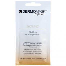L'biotica DermoMask Night Active kisimító és feszesítő maszk 24 karátos arannyal  12 ml
