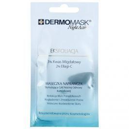 L'biotica DermoMask Night Active hámlasztó maszk a bőr felszínének megújítására  12 ml