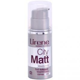 Lirene City Matt mattító make-up folyadék kisimító hatással árnyalat 208 Toffee  30 ml
