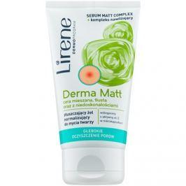 Lirene Derma Matt normalizáló tisztító gél bőrhámlasztó hatással  150 ml