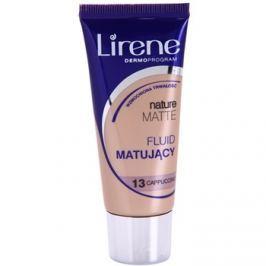 Lirene Nature Matte mattító make-up folyadék a hosszan tartó hatásért árnyalat 13 Capuccino 30 ml
