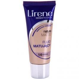 Lirene Nature Matte mattító make-up folyadék a hosszan tartó hatásért árnyalat 14 Caramel 30 ml