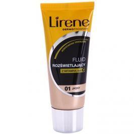 Lirene Vitamin C bőrvilágosító make-up fluid a hosszan tartó hatásért árnyalat 01 Light 30 ml