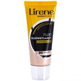 Lirene Vitamin C bőrvilágosító make-up fluid a hosszan tartó hatásért árnyalat 04 Tanned 30 ml