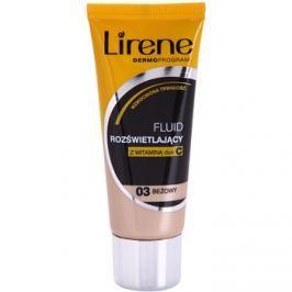 Lirene Vitamin C bőrvilágosító make-up fluid a hosszan tartó hatásért árnyalat 03 Beige 30 ml