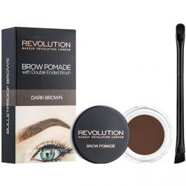 Makeup Revolution Brow Pomade szemöldök pomádé árnyalat Dark Brown 2,5 g