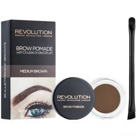 Makeup Revolution Brow Pomade szemöldök pomádé árnyalat Medium Brown 2,5 g